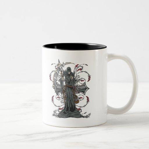 Grim Reaper Awaits Coffee Mug