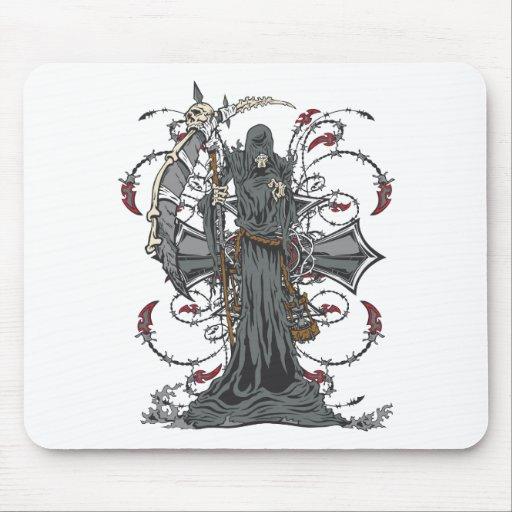 Grim Reaper Awaits Mouse Pad