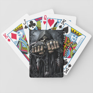 grim reaper bicycle playing cards