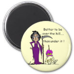 Grim Reaper Birthday Humor 2 Inch Round Magnet