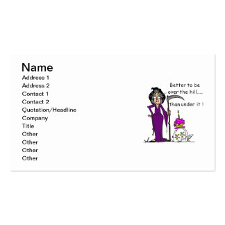 Grim Reaper Birthday Humor Double-Sided Standard Business Cards (Pack Of 100)