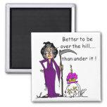 Grim Reaper Birthday Humor Fridge Magnets