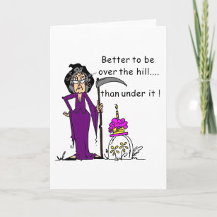 Funny old lady cards zazzle grim reaper birthday humor card m4hsunfo