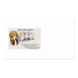 Grim Reaper Black Cat Lantern Full Moon Double-Sided Standard Business Cards (Pack Of 100)