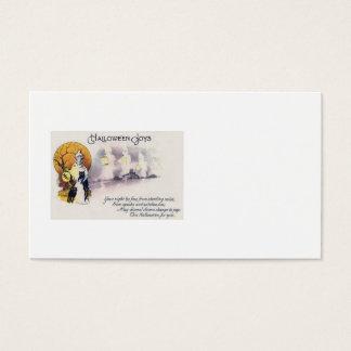 Grim Reaper Black Cat Lantern Full Moon Business Card