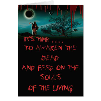 Grim reaper bloody halloween cards