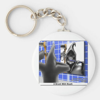 Grim Reaper Brush W/Death Funny Tees Mugs & Gifts Key Chain