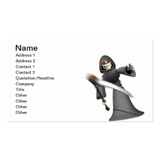 Grim Reaper Double-Sided Standard Business Cards (Pack Of 100)