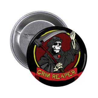 Grim Reaper Button Pin