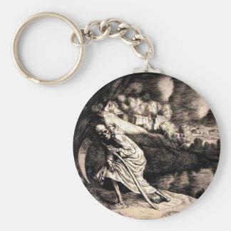 Grim Reaper button keychain