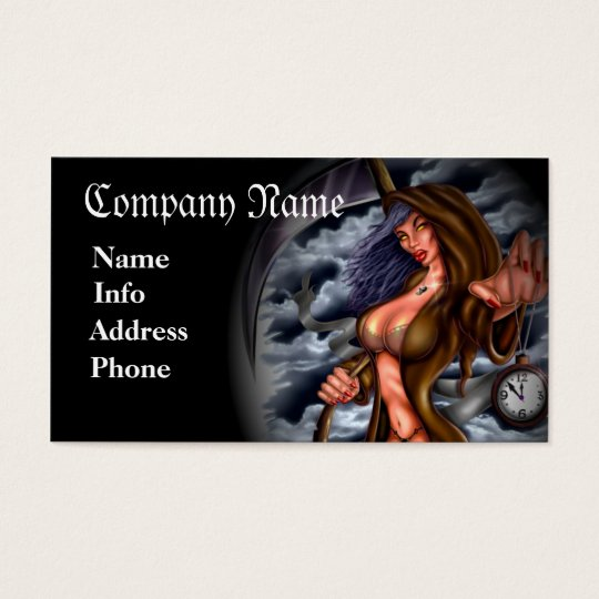 Grim Reaper (Chick) Business Card