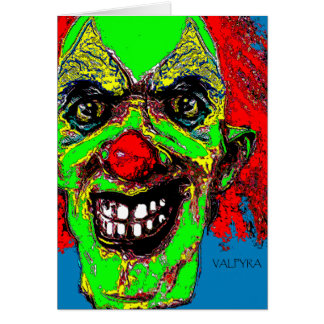 """Grim Reaper Clown from """"The Family"""" by Valpyra Card"""