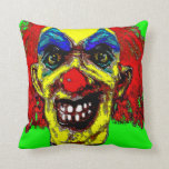 """Grim Reaper Clown from """"The Family"""" by Valpyra Throw Pillows"""