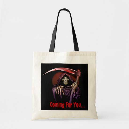 Grim Reaper Coming For You Halloween Tote Bag