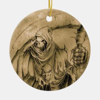 Grim Reaper Death Ceramic Ornament