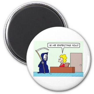 grim reaper death expecting you magnet