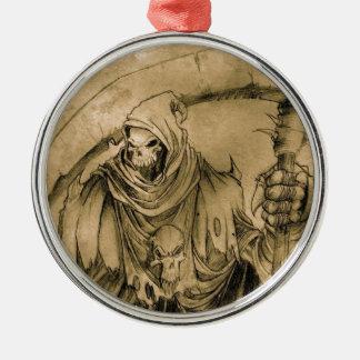 Grim Reaper Death Metal Ornament