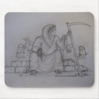 Grim Reaper Death Pencil Drawing Mousepad