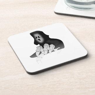 Grim Reaper Death Plastic Coaster