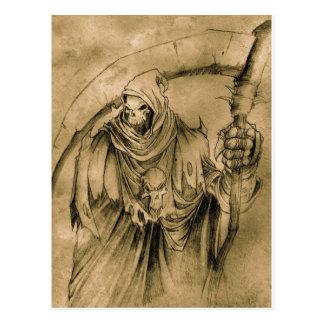 Grim Reaper Death Postcard