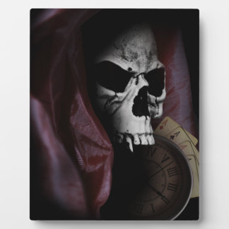 Grim Reaper Death Skeleton Skull Plaque
