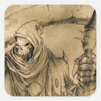 Grim Reaper Death Square Sticker