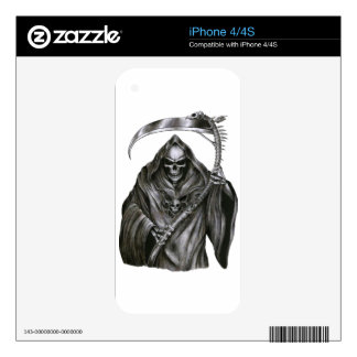 Grim Reaper Decals For iPhone 4