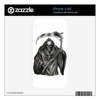 Grim Reaper Decals For iPhone 4