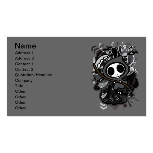 Grim_Reaper Double-Sided Standard Business Cards (Pack Of 100)