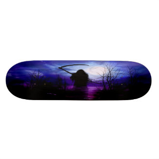 Grim Reaper Fantasy Night Skateboard