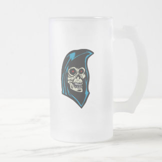 grim reaper frosted glass beer mug