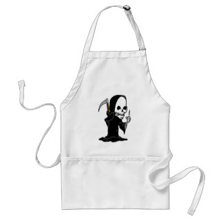 Grim Reaper giving the Finger Adult Apron