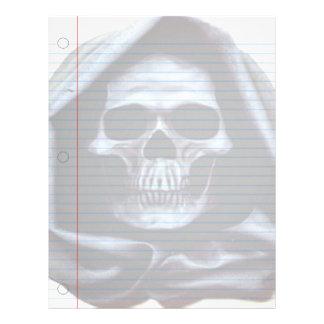 Grim Reaper Goth Notebook Paper Letterhead