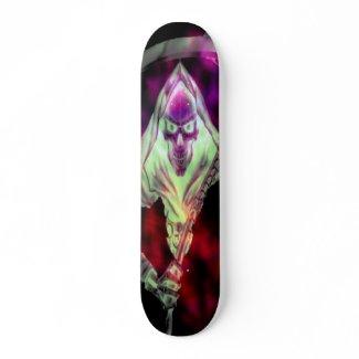 Grim Reaper Goth Skateboard skateboard