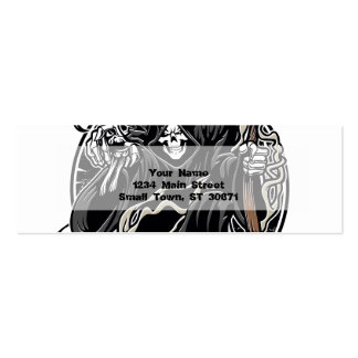 grim reaper gothic evil for halloween Double-Sided mini business cards (Pack of 20)