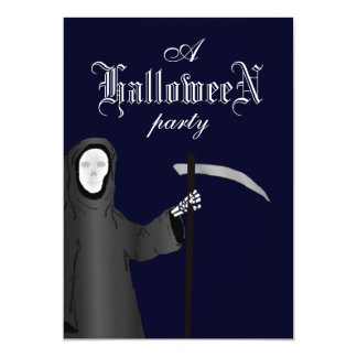 Grim Reaper Gothic Halloween Party Invitation