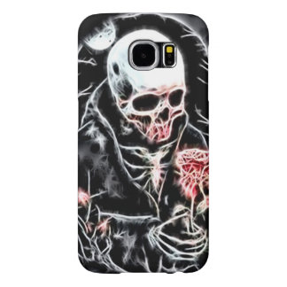 Grim Reaper Gothic Love Web Fractal Samsung Galaxy S6 Case