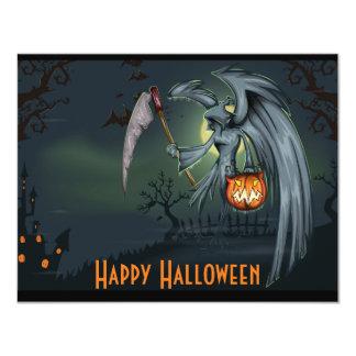 Grim Reaper Graveyard Halloween Invitation