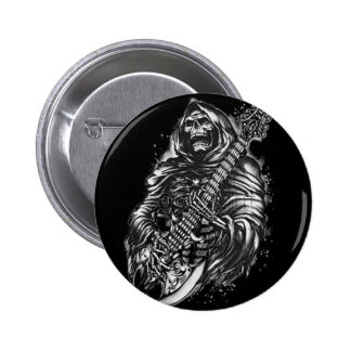 Grim  Reaper Guitar 2 Inch Round Button