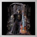 Grim Reaper Guitar in Hell Posters