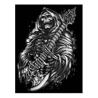 Grim  Reaper Guitar Postcards