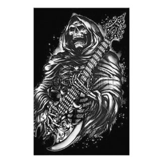 Grim  Reaper Guitar Stationery
