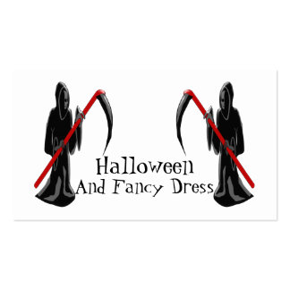 Grim Reaper Halloween Fancy Dress Double-Sided Standard Business Cards (Pack Of 100)