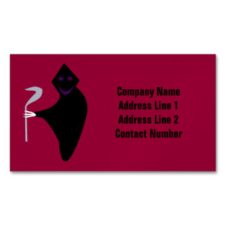 Grim Reaper Halloween Personalized Magnetic Business Cards (Pack Of 25)