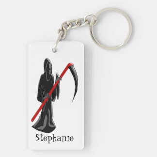 Grim Reaper Just Add Name Keychain