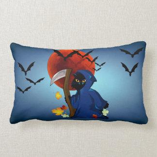 Grim Reaper Kitty Lumbar Pillow