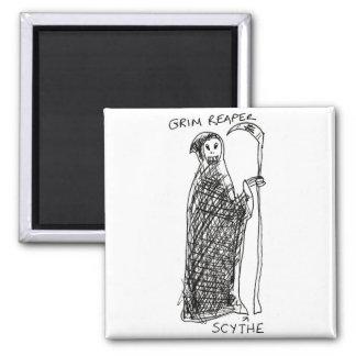 Grim Reaper Fridge Magnets