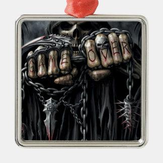 grim reaper metal ornament