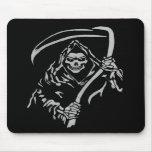 Grim Reaper Mousepad White On Black