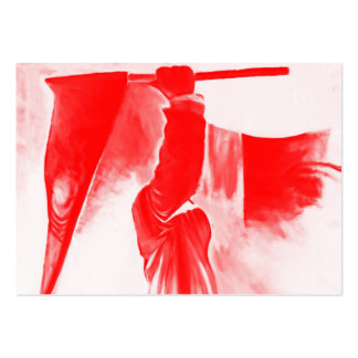 Grim Reaper of Death, Red Tinted Large Business Cards (Pack Of 100)